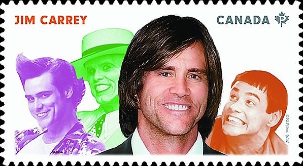 Jim Carrey Canada Postage Stamp   Great Canadian Comedians