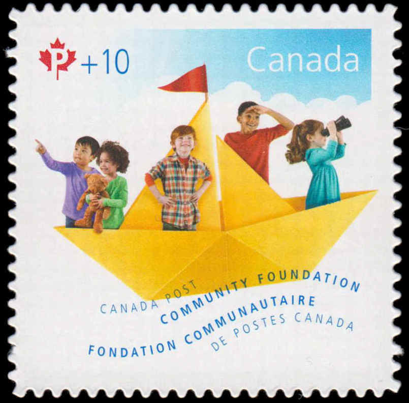 Paper Sailboat - Canada Post Community Foundation Canada Postage Stamp