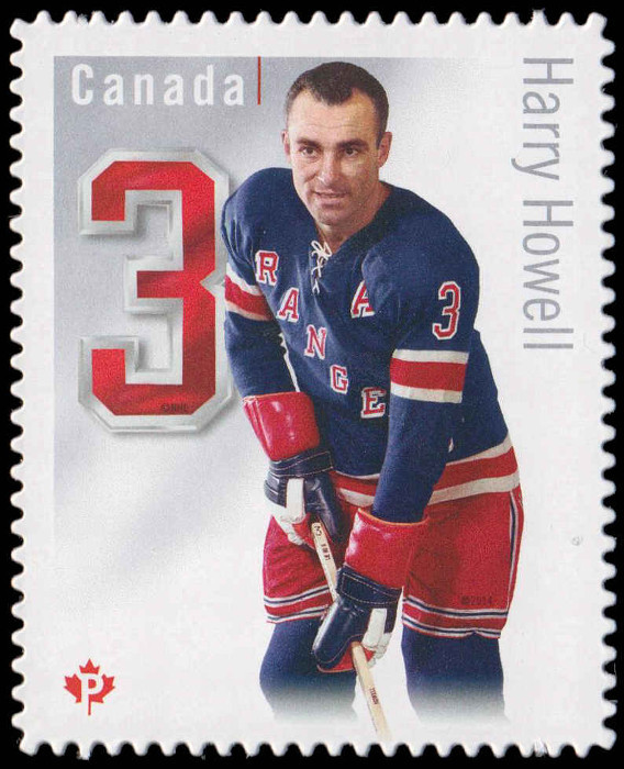 Harry Howell - New York Rangers Canada Postage Stamp