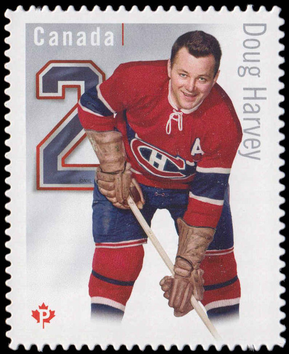 purchase cheap deee2 de155 Doug Harvey - Montreal Canadiens - Canada Postage Stamp ...