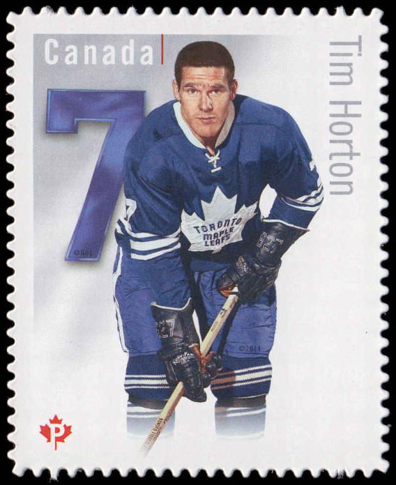 Tim Horton - Toronto Maple Leafs Canada Postage Stamp