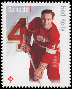 Red Kelly - Detroit Red Wings Canada Postage Stamp