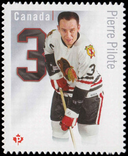 Pierre Pilote - Chicago Blackhawks Canada Postage Stamp | Original Six™