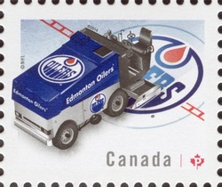 NHL® Zamboni® - Edmonton Oilers Canada Postage Stamp | NHL Zambonis