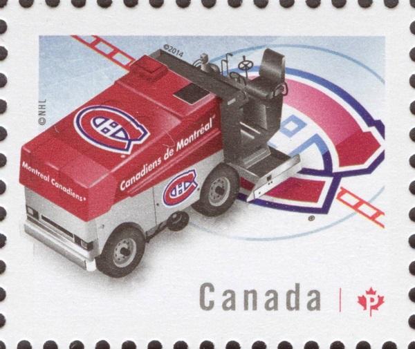 NHL® Zamboni® - Montreal Canadiens Canada Postage Stamp | NHL Zambonis