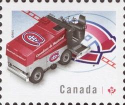 NHL® Zamboni® - Montreal Canadiens Canada Postage Stamp