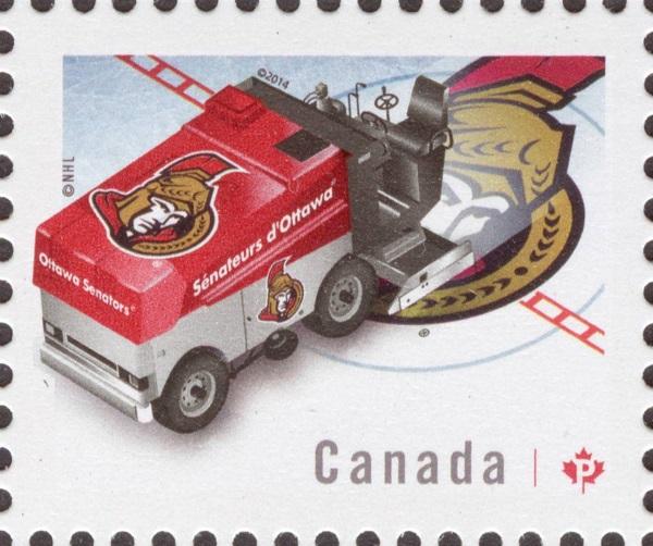 NHL® Zamboni® - Ottawa Senators Canada Postage Stamp | NHL Zambonis