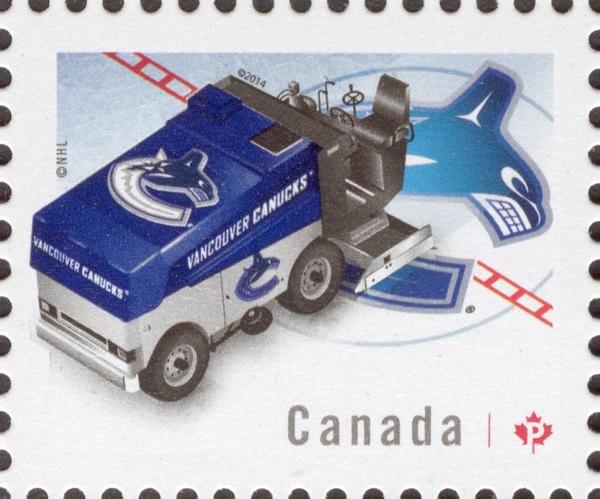 NHL® Zamboni® - Vancouver Canucks Canada Postage Stamp | NHL Zambonis