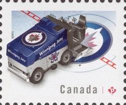 NHL® Zamboni® - Winnipeg Jets Canada Postage Stamp | NHL Zambonis