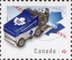 NHL® Zamboni® - Toronto Maple Leafs Canada Postage Stamp | NHL Zambonis