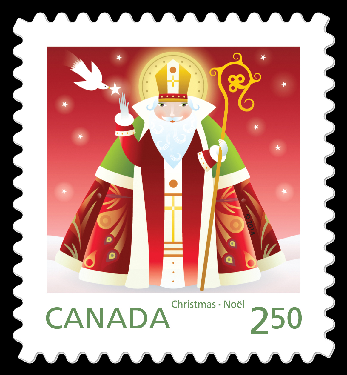 St. Nicolas Canada Postage Stamp | Santa 2014