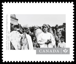 """Angels, Saint-Jean-Baptiste Day"" by Sam Tata Canada Postage Stamp 