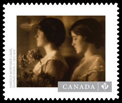 """Southam Sisters"" by Harold Mortimer-Lamb Canada Postage Stamp 