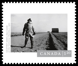 """Alex Colville on the Tantramar Marshes"" by Geoffrey James Canada Postage Stamp 