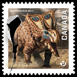 Chasmosaurus Belli Canada Postage Stamp | Dinos of Canada