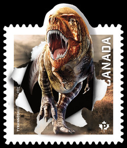Tyrannosaurus Rex Canada Postage Stamp | Dinos of Canada