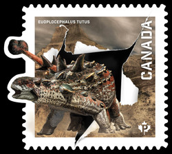 Euoplocephalus Tutus Canada Postage Stamp | Dinos of Canada