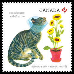 Spay or Neuter Your Pet Canada Postage Stamp | Love Your Pet - Responsibilities