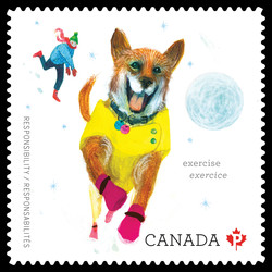 Exercise Your Pet Canada Postage Stamp | Love Your Pet - Responsibilities