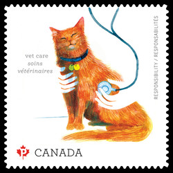 Vet Care for Your Pet Canada Postage Stamp | Love Your Pet - Responsibilities