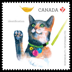 Use Pet Collars for Identification Canada Postage Stamp | Love Your Pet - Responsibilities