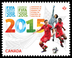 FIFA Women's World Cup Canada 2015 Canada Postage Stamp