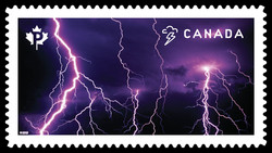 Lightning Storm Canada Postage Stamp | Weather Wonders