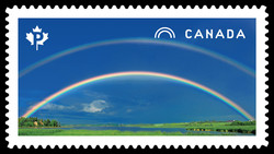 Double Rainbow Canada Postage Stamp | Weather Wonders