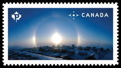 Sun Dog Canada Postage Stamp | Weather Wonders