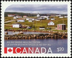 Red Bay Basque Whaling Station Canada Postage Stamp | UNESCO World Heritage Sites in Canada