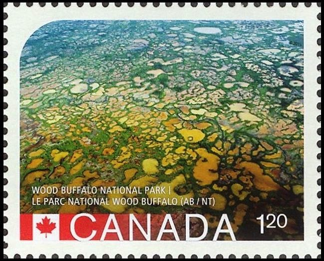Wood Buffalo National Park Canada Postage Stamp | UNESCO World Heritage Sites in Canada