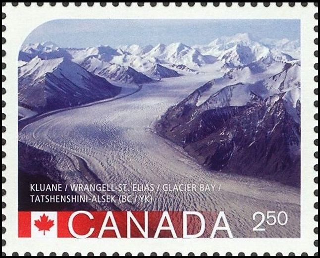 Kluane National Park / Wrangell St. Elias / Glacier Bay / Tatshenshini-Alsek Canada Postage Stamp | UNESCO World Heritage Sites in Canada