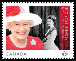 A Historic Reign: Queen Elizabeth II Canada Postage Stamp