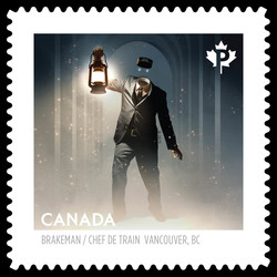 Gastown's Headless Brakeman Canada Postage Stamp | Haunted Canada