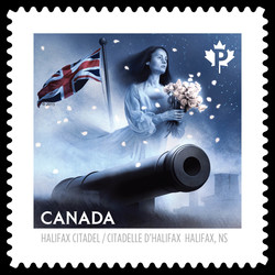 The Grey Lady of the Halifax Citadel Canada Postage Stamp | Haunted Canada
