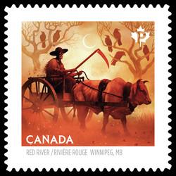 The Red River Metis Ox Cart Canada Postage Stamp | Haunted Canada