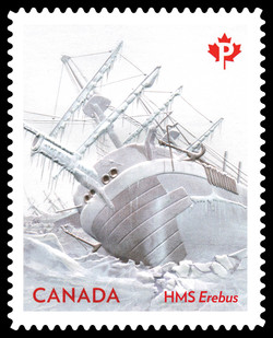 The HMS Erebus Encased in Ice Canada Postage Stamp | The John Franklin Expedition