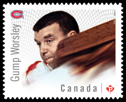 "Lorne ""Gump"" Worsley - Montreal Canadiens Canada Postage Stamp 