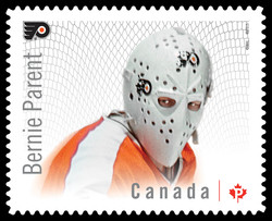 Bernie Parent - Philadelphia Flyers Canada Postage Stamp | Great Canadian NHL Hockey Goalies