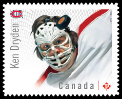 Ken Dryden - Montreal Canadiens Canada Postage Stamp | Great Canadian NHL Hockey Goalies