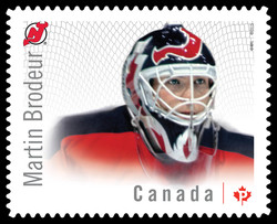 Martin Brodeur - New Jersey Devils Canada Postage Stamp | Great Canadian NHL Hockey Goalies