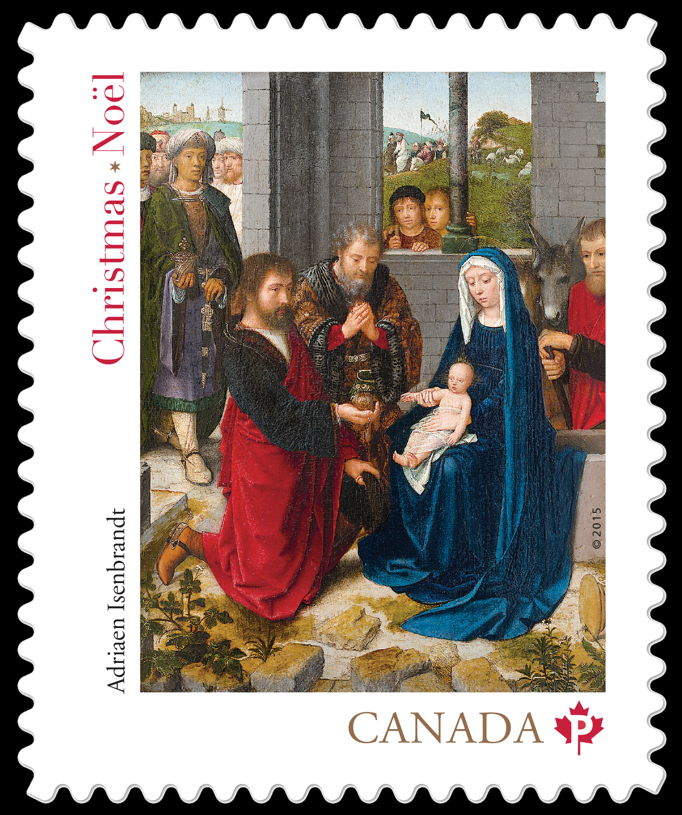 """The Adoration of the Magi"" by Adriaen Isenbrandt Canada Postage Stamp"