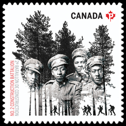 Black History - No. 2 Construction Battalion  Postage Stamp