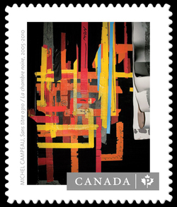 """Sans titre 0310"" in the Series ""La chambre noire"" by Michel Campeau Canada Postage Stamp 