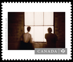 """Window"" by Angela Grauerholz (1988) Canada Postage Stamp 