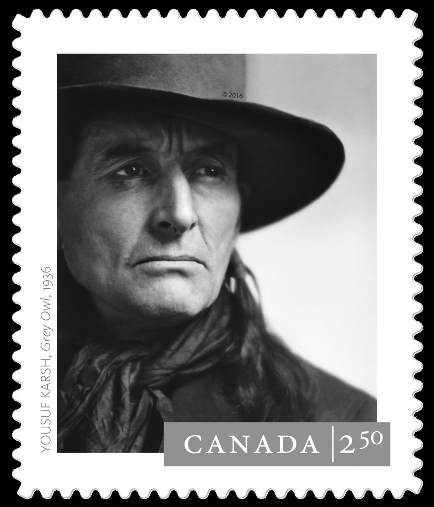 """Grey Owl (Archibald Belaney)"" by Yousuf Karsh (1936) Canada Postage Stamp 