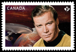 Captain James T. Kirk - Star Trek Canada Postage Stamp | Star Trek