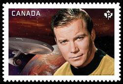 Captain James T. Kirk - Star Trek Canada Postage Stamp | Star Trek