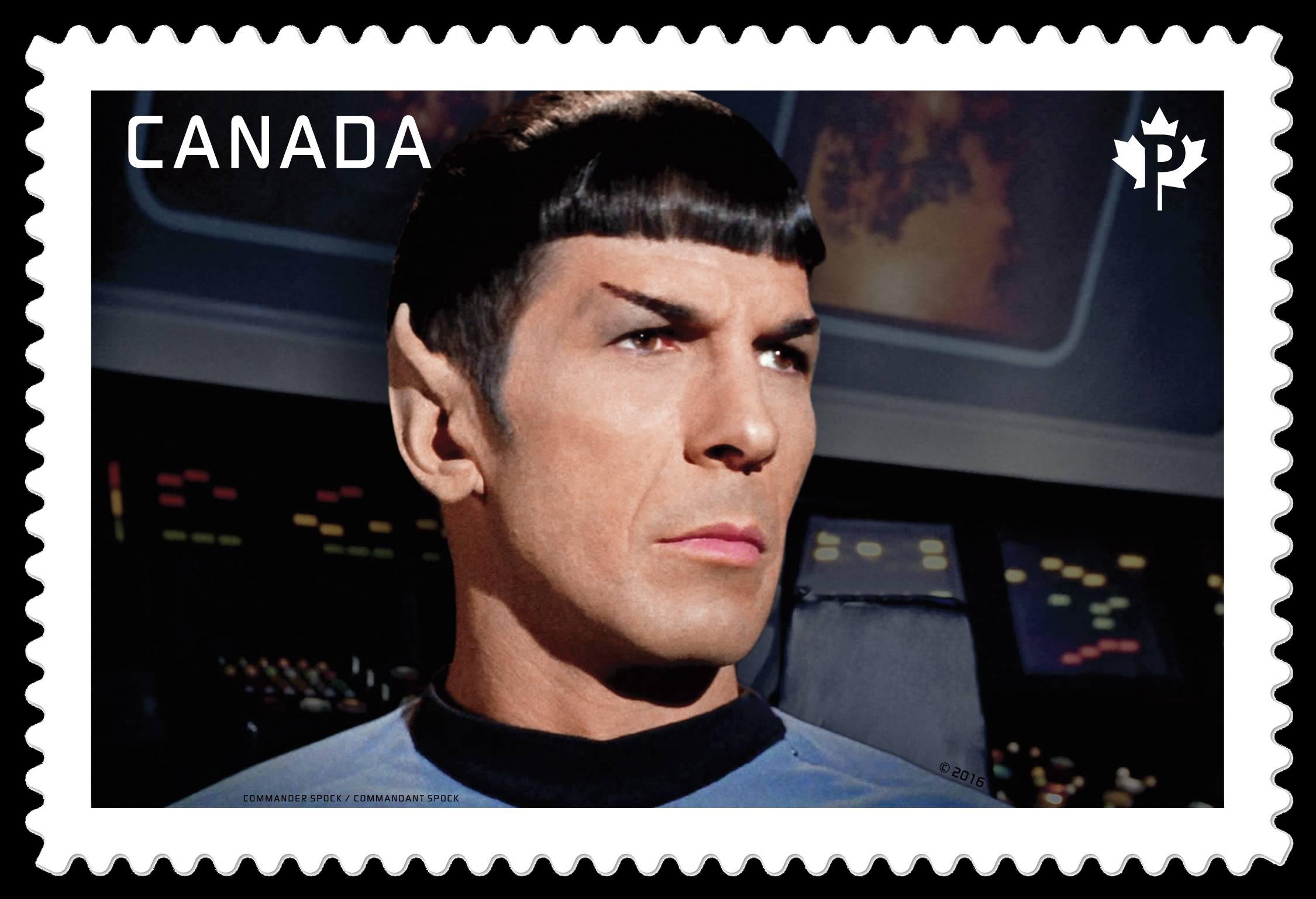 Commander Spock - Star Trek Canada Postage Stamp | Star Trek