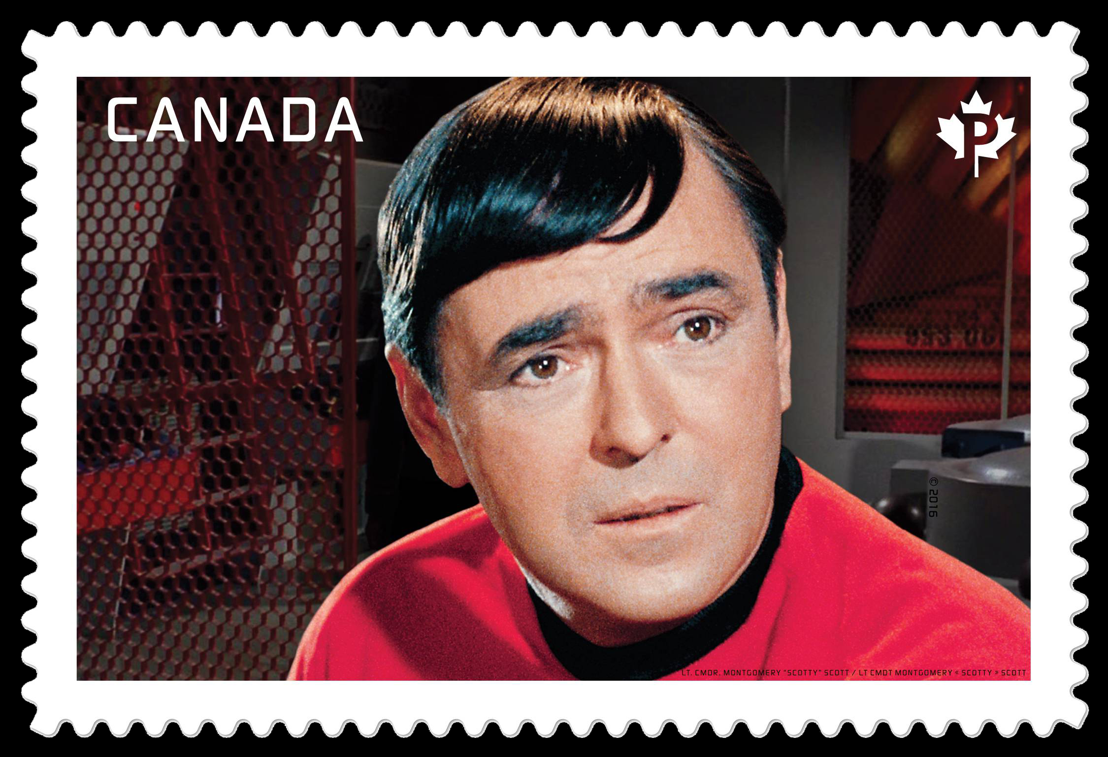 "Lt. Commander Montgomery ""Scotty"" Scott - Star Trek Canada Postage Stamp"